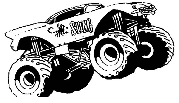 Monster Truck Sting Monster Jam Coloring Pages Color Luna In 2020 Monster Trucks Cars Coloring Pages Monster