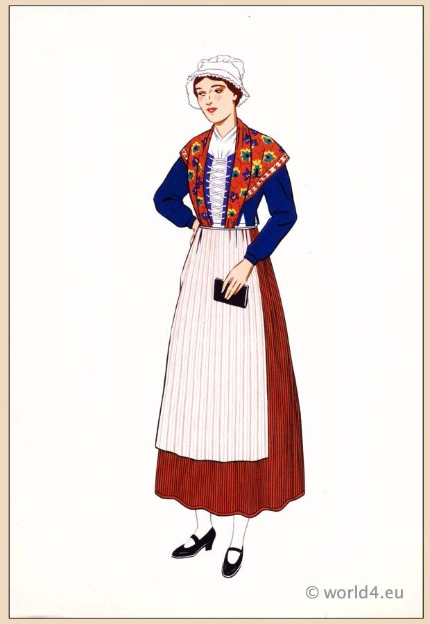 France - The ladies shown are dressed in traditional French ...