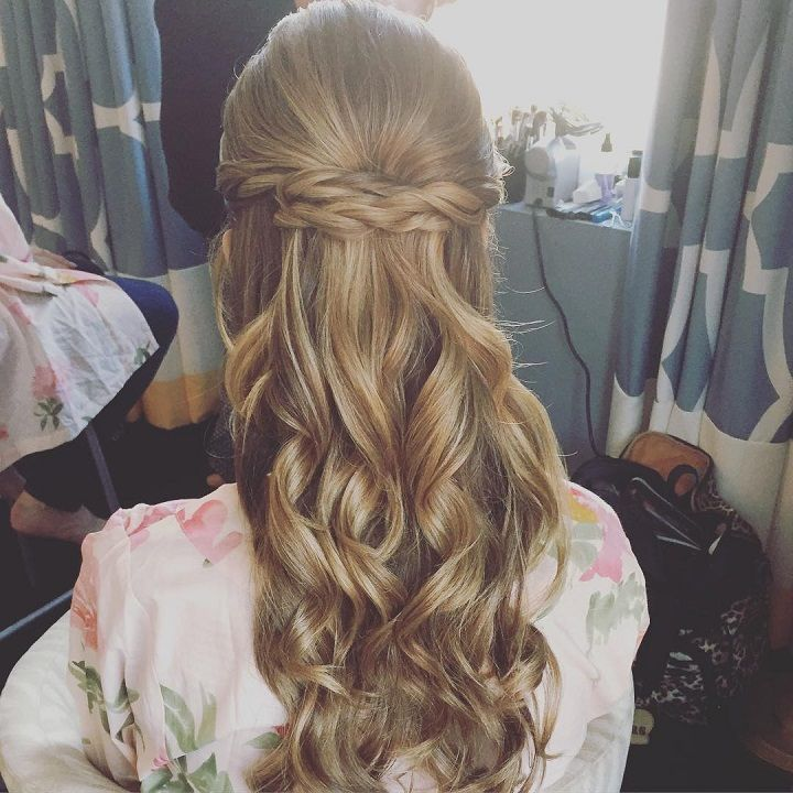 37 Beautiful Half Up Half Down Hairstyles Half Up Pony 4: Beautiful Braided Half Up And Half Down Hairstyle For