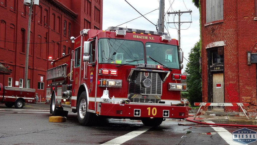 Syracuse Fire Department With Images Fire Trucks Fire