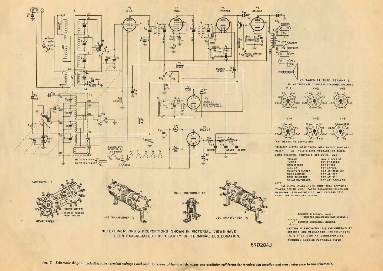 Hallicrafters S-38 communicatie-ontvanger 1946 | HAM RADIO ... on