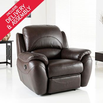Atlanta Power Recliner Brown Leather Armchair From Costco Co Uk