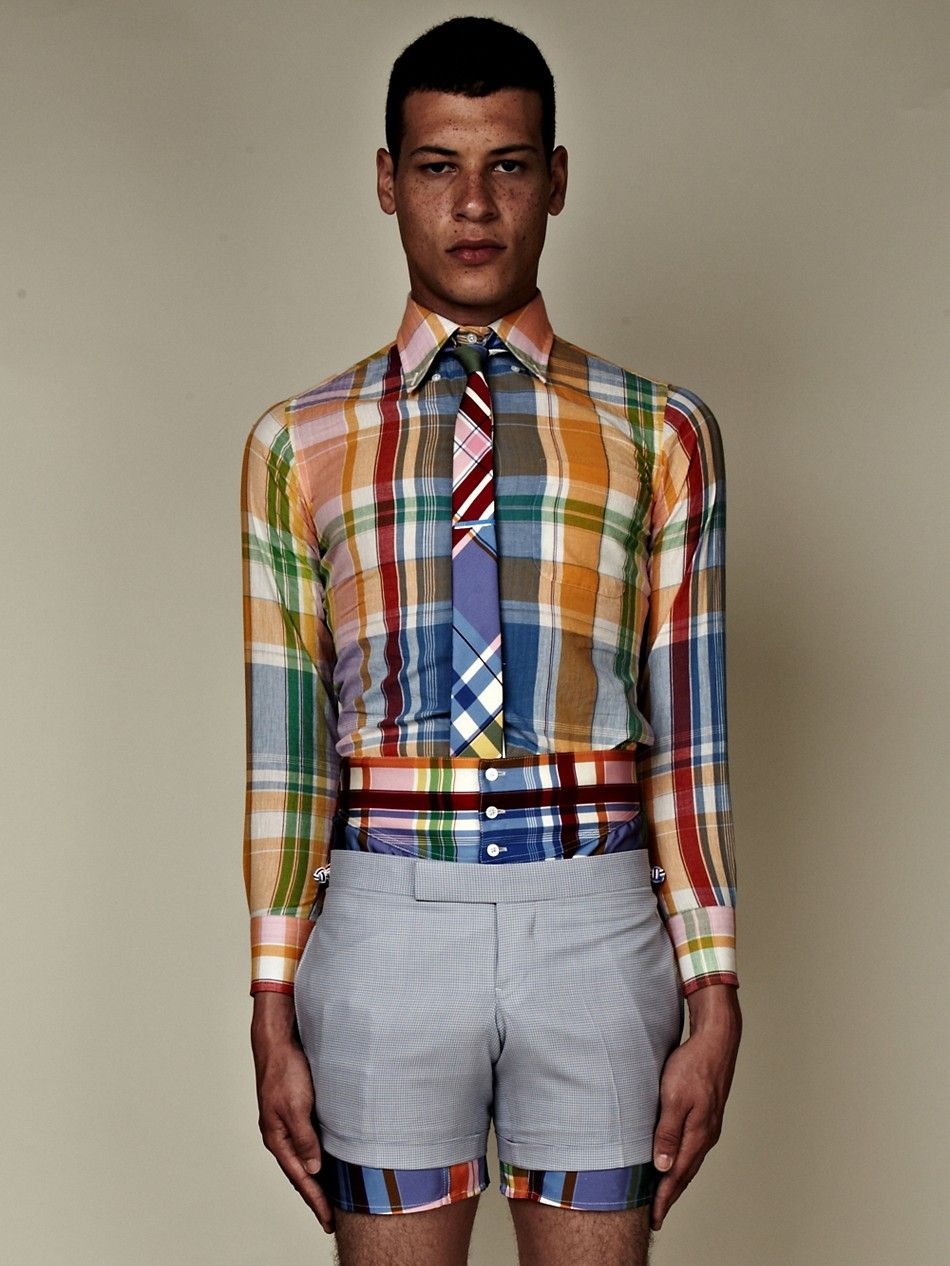Thom Browne Ss13 Men S Classic Button Down Madras Check