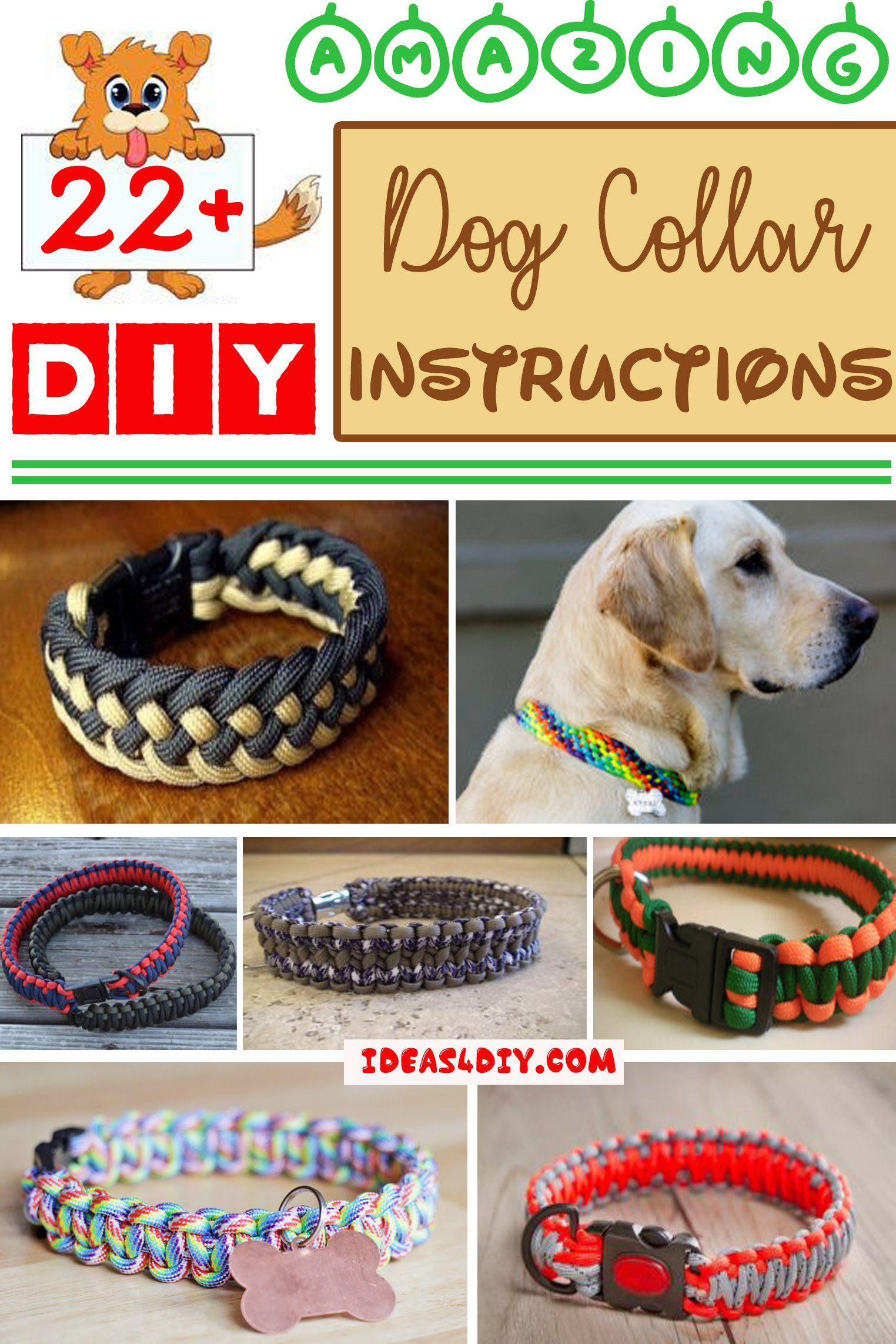how to make a dog collar with paracord