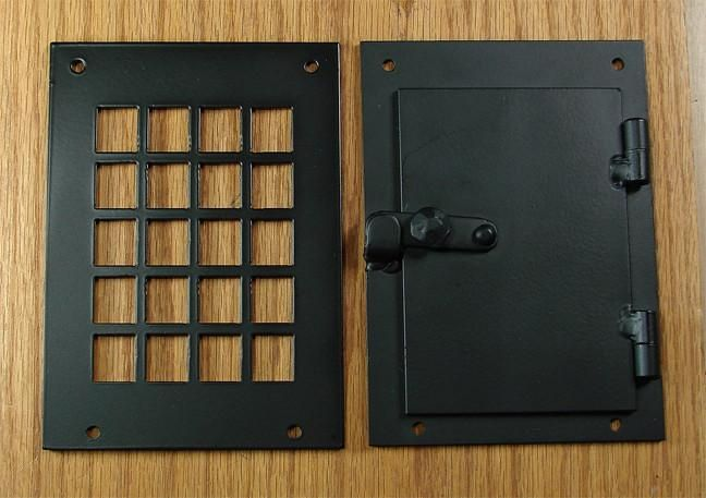 Iron Door Viewer Square Style 2 Pc Iron Speakeasy Door Viewer Kit Speakeasy Door Iron Doors Door Viewers