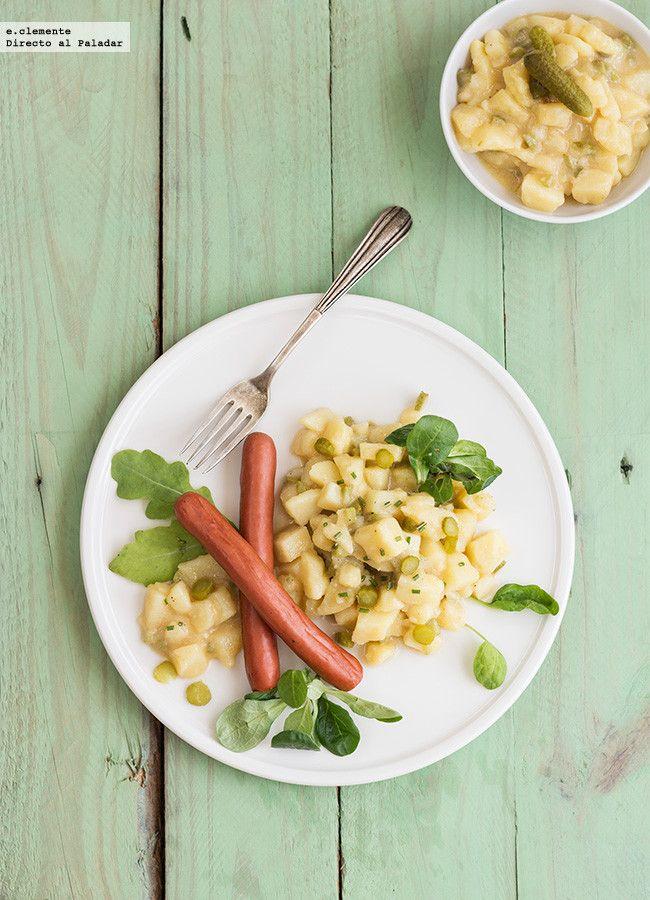 C mo hacer ensalada alemana de patata o kartoffelsalat - Ensalada alemana de patatas ...