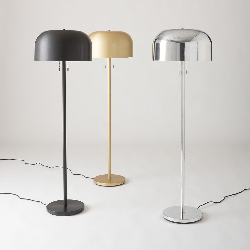 Donna Floor Lamp - Gold Anodized | Schoolhouse Electric | Indoor ...