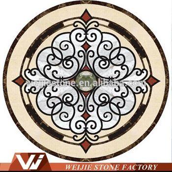 Waterjet Marble Tiles Design Floor Pattern Tile Round Mosaic