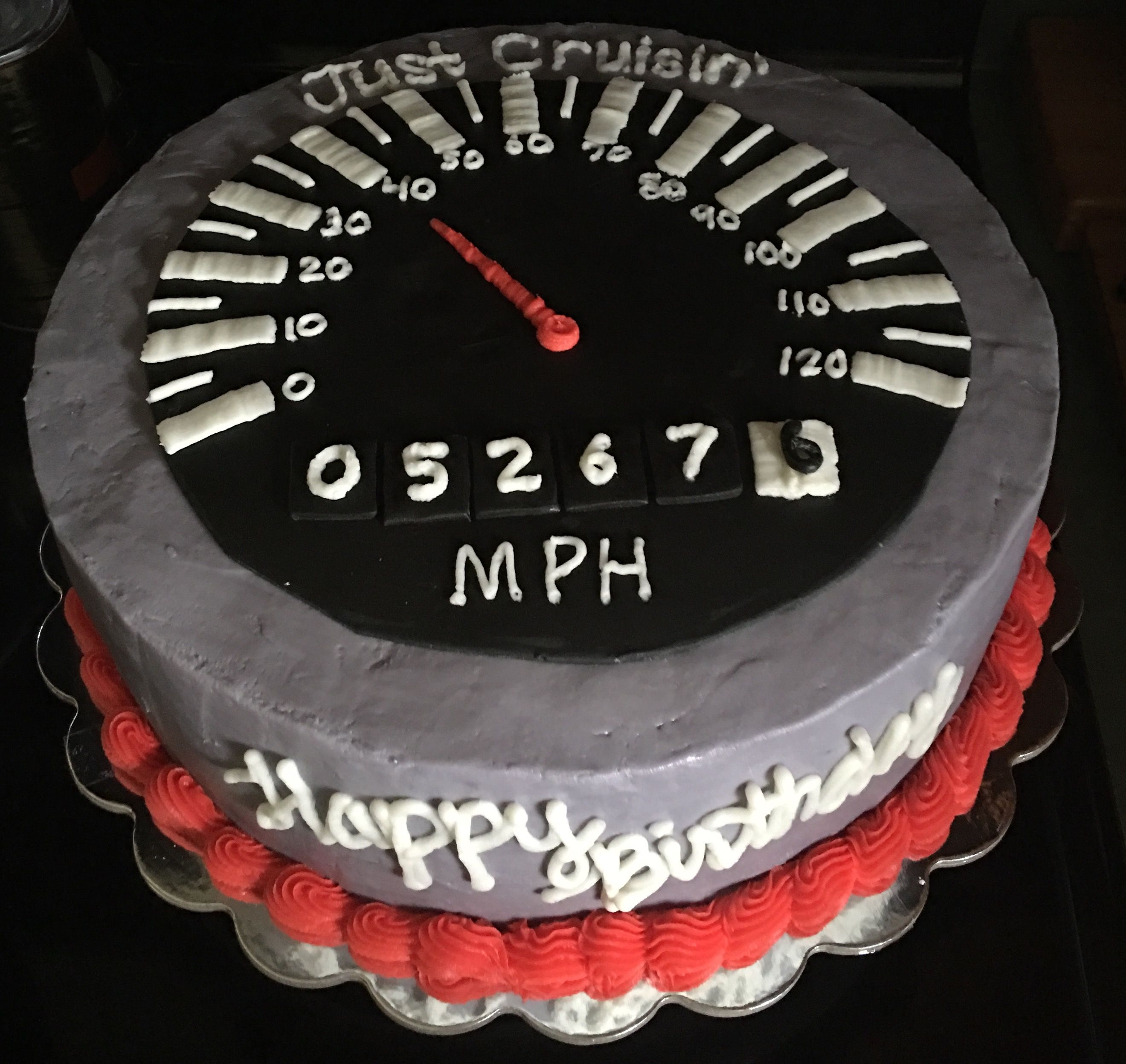 40th Birthday Cake Speedometer My Creations In 2019 40th