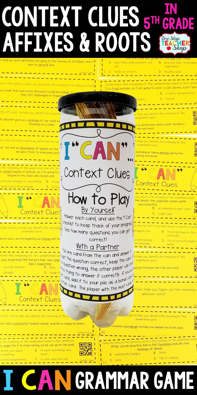5th grade grammar game context clues context clues grammar 5th grade grammar game context clues sciox Images