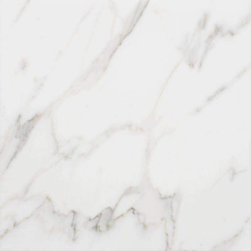 Calacatta Gold 12x12 Marble A classic Italian polished white marble accented by soft grey and gold veining, Calacatta Gold is a highly desired luxurious stone. Its sophisticated and elegant appearance has graced beautiful homes for centuries. Specifications : Size : 12