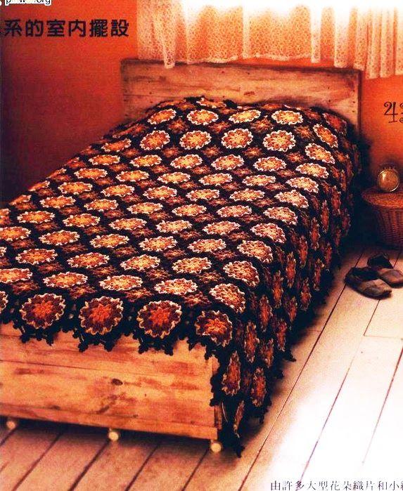Crochet Plaid Bedspreads Pinterest Bedspread Crochet