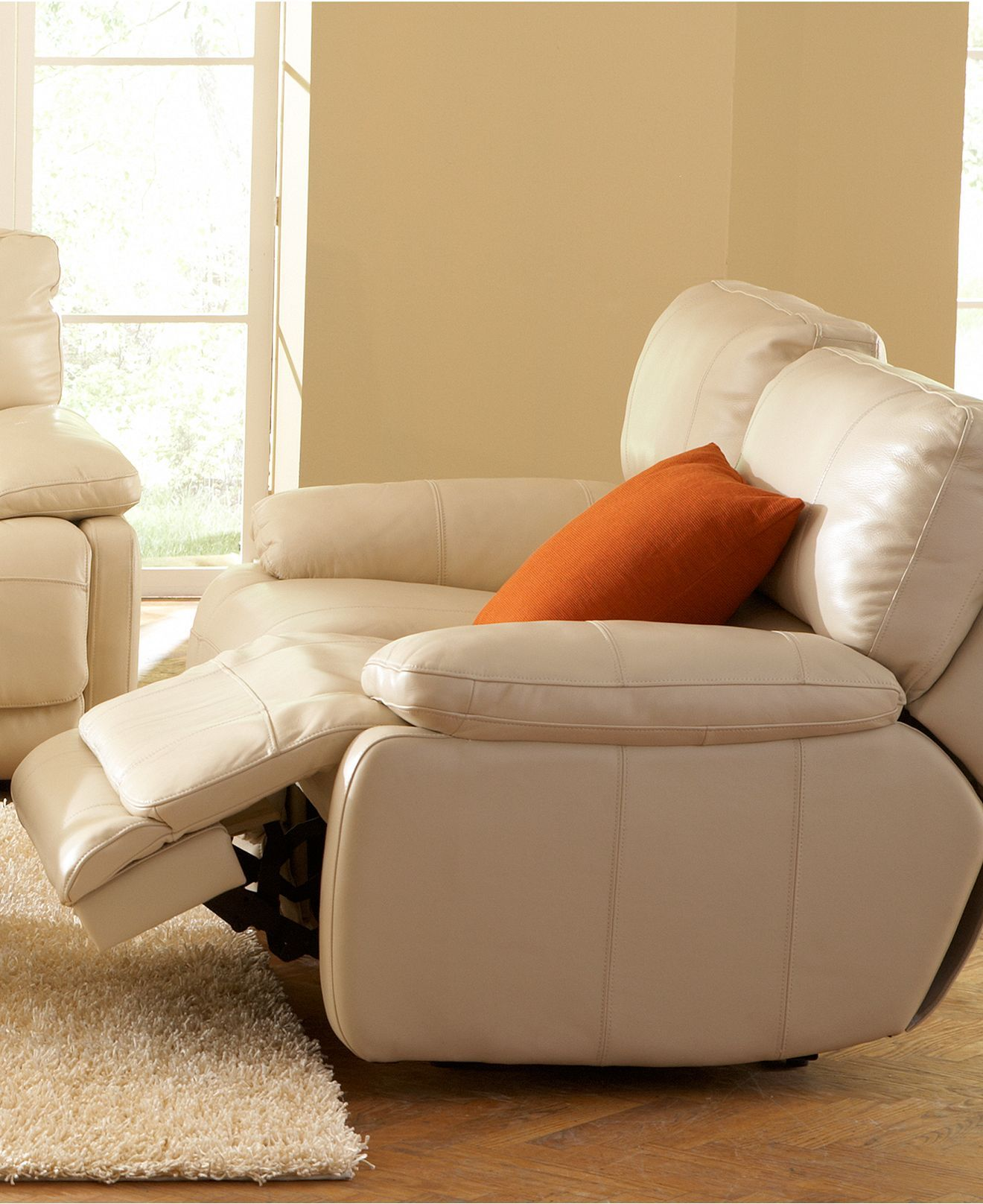 Franco Leather Sofa Living Room Furniture Collection Power ...