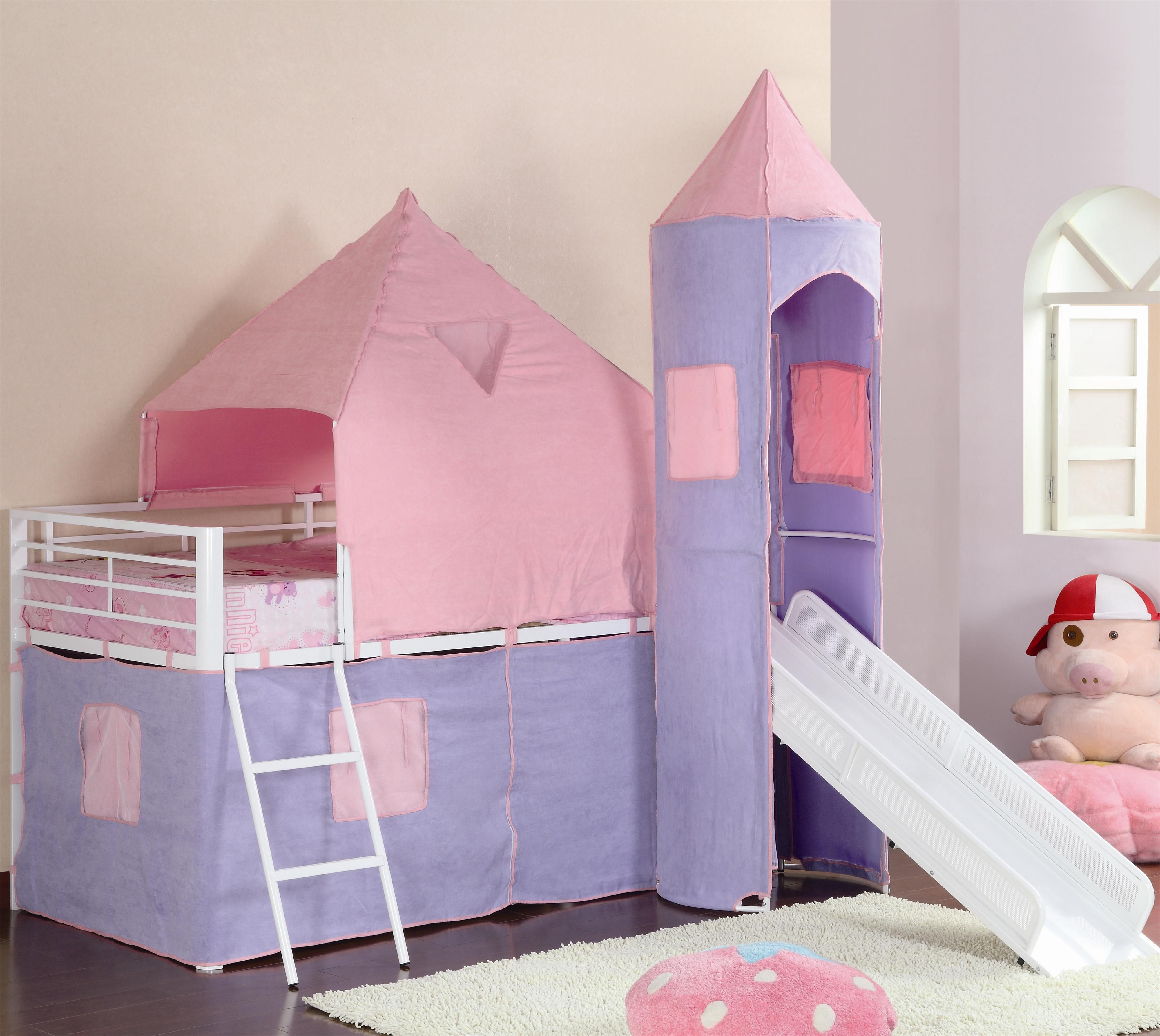 Girls bunk bed Princess loft bed, Twin loft bed, Bed tent