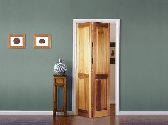 Wooden Bifold Bathroom Doors For Small Spaces With 2 Panel Decolover Net Wood Doors Interior Bifold Doors Doors Interior
