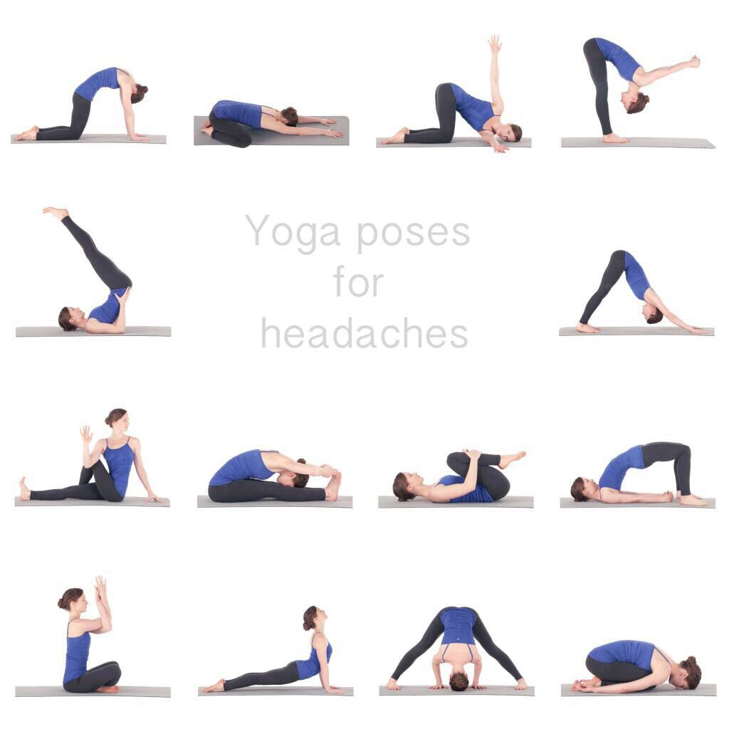 Yoga Poses for Migraine Headaches -See more poses and benefits