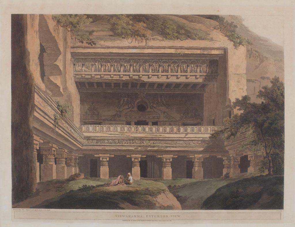 Visvakarma Caves Ellora By Thomas Daniel