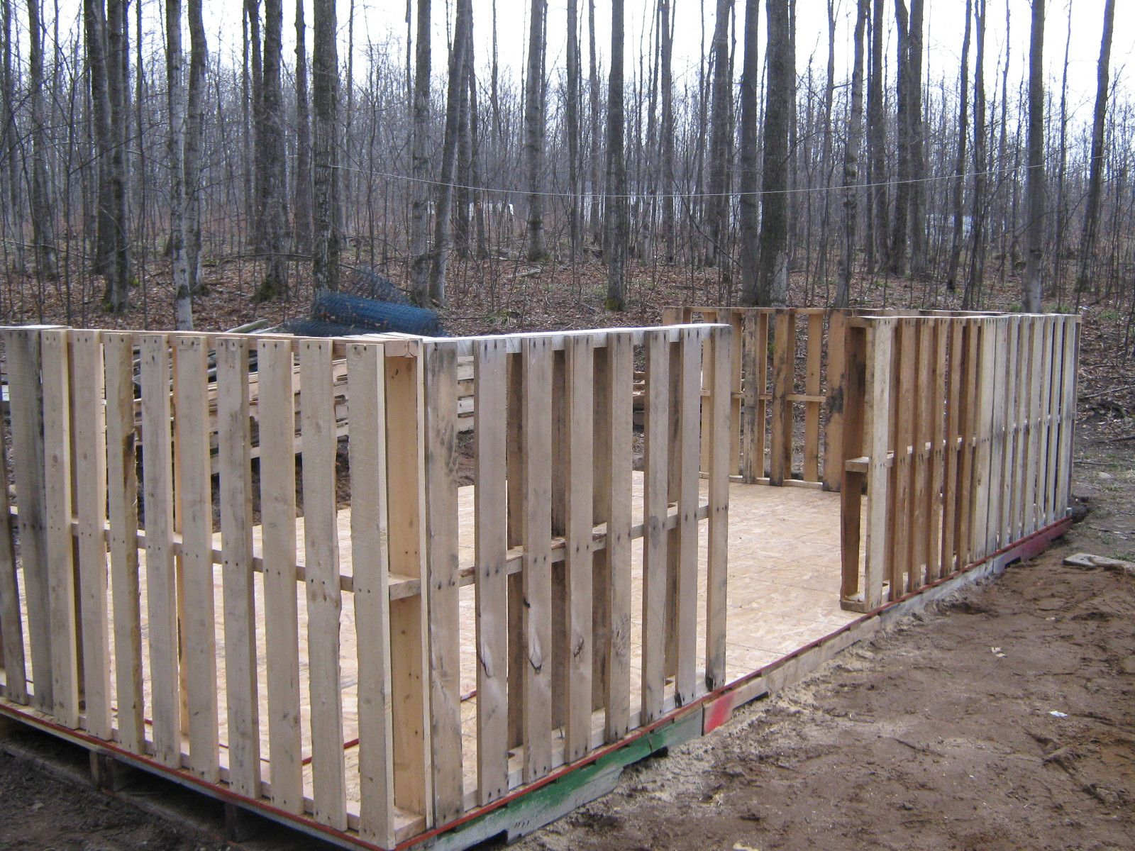 Pallet shed building 101 pallets pallet projects and woods for How to build a house out of wood pallets