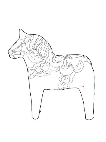 swedish dala coloring page from sweden category