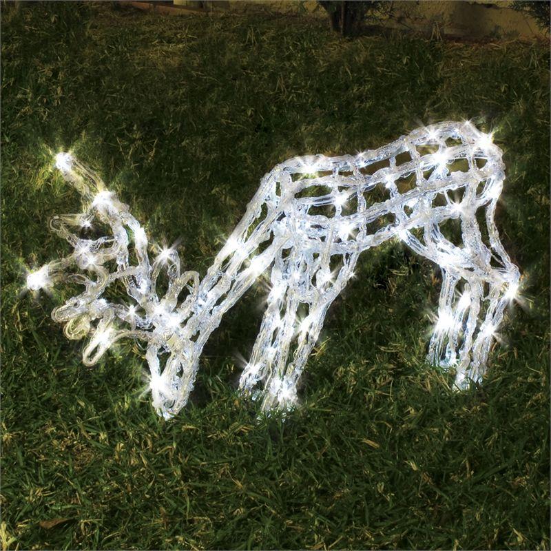 Lytworx 120 Led 3d Grazing Deer Solar Festive Silhouette 49 90 Christmas Lights Festival Silhouette