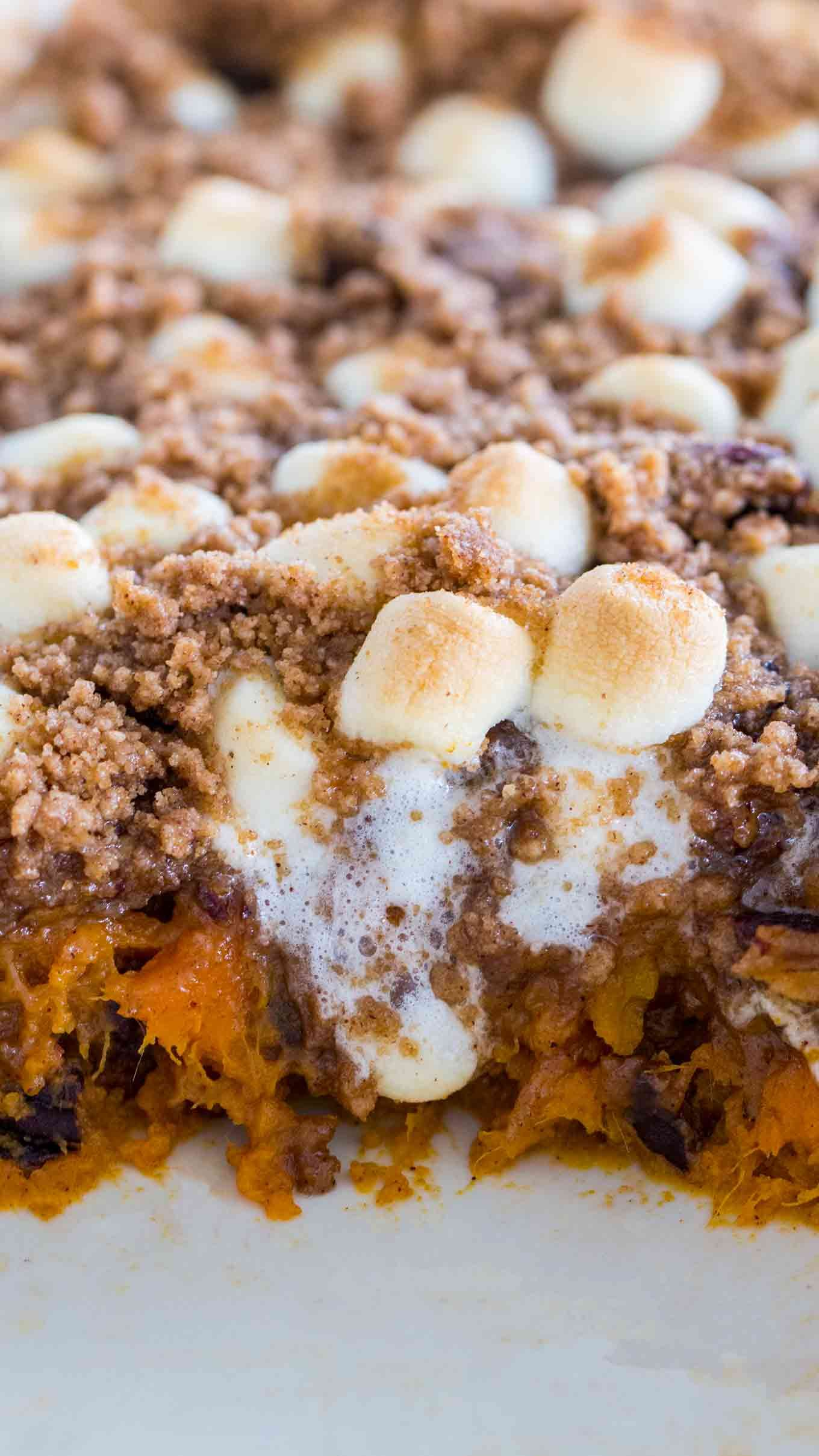 Loaded Sweet Potato Casserole [VIDEO] - Sweet and Savory Meals