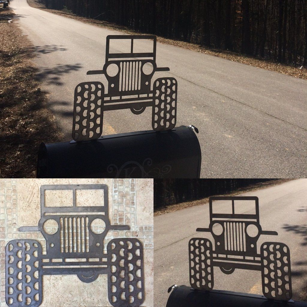Jeep Life Metal Mailbox Metal Art Jeep Life