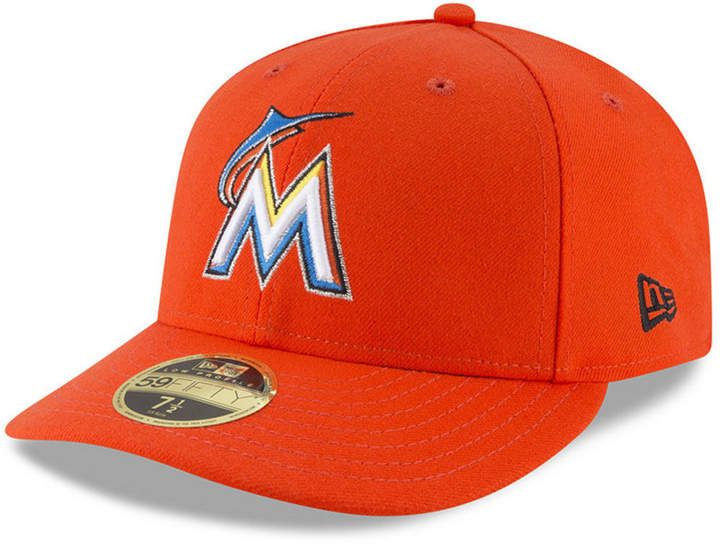 on sale 7136c 48518 New Era Miami Marlins Low Profile Ac Performance 59FIFTY Fitted Cap