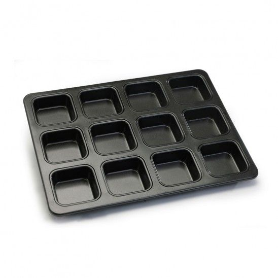 Square 12 Cup Crispy Brownie Pan
