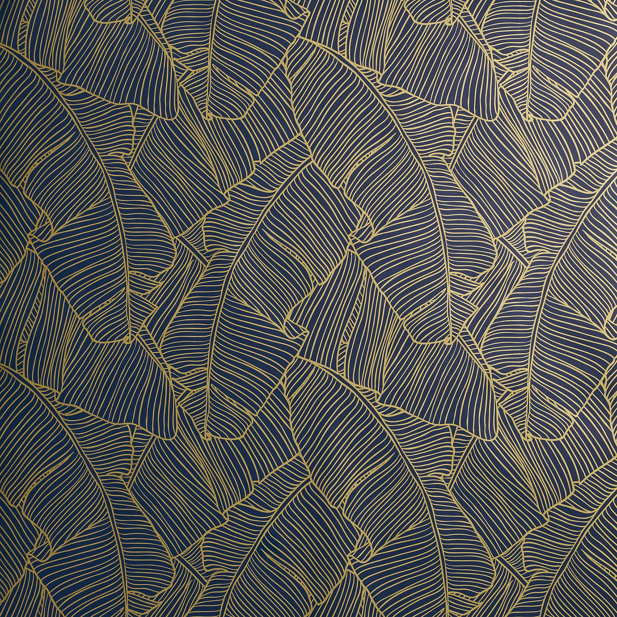Hendricks white vase gold wallpaper palms and adhesive for Stylish wallpaper designs