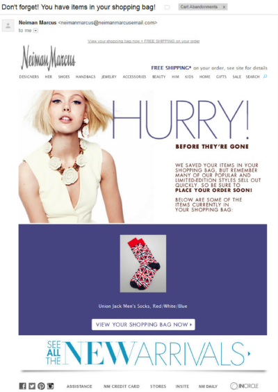 Neimanmarcus Has Designed A Perfect Reminder Email For Abandoned
