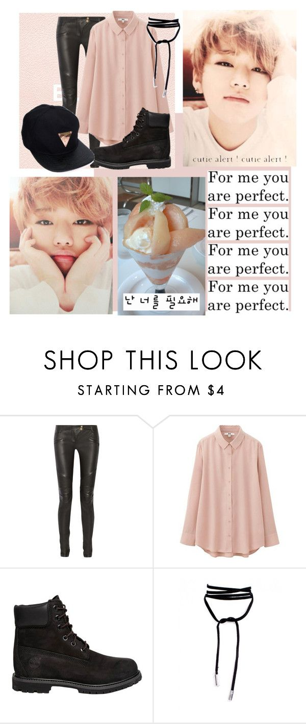 """""""...Z..Z..Z.I.CO"""" by park-ji-eun ❤ liked on Polyvore featuring Balmain, Uniqlo and Timberland"""