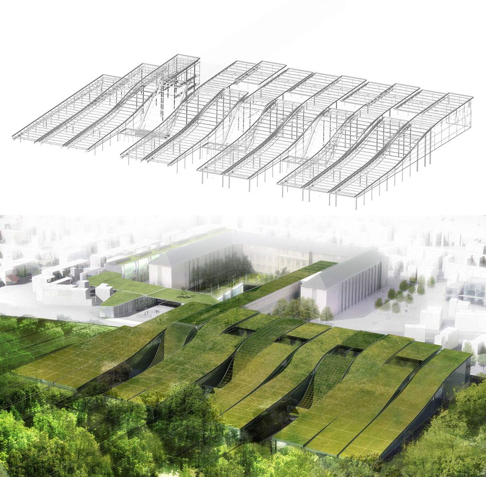 Best Gorgeous Green Roofed Marcel Sembat School Completed In 640 x 480