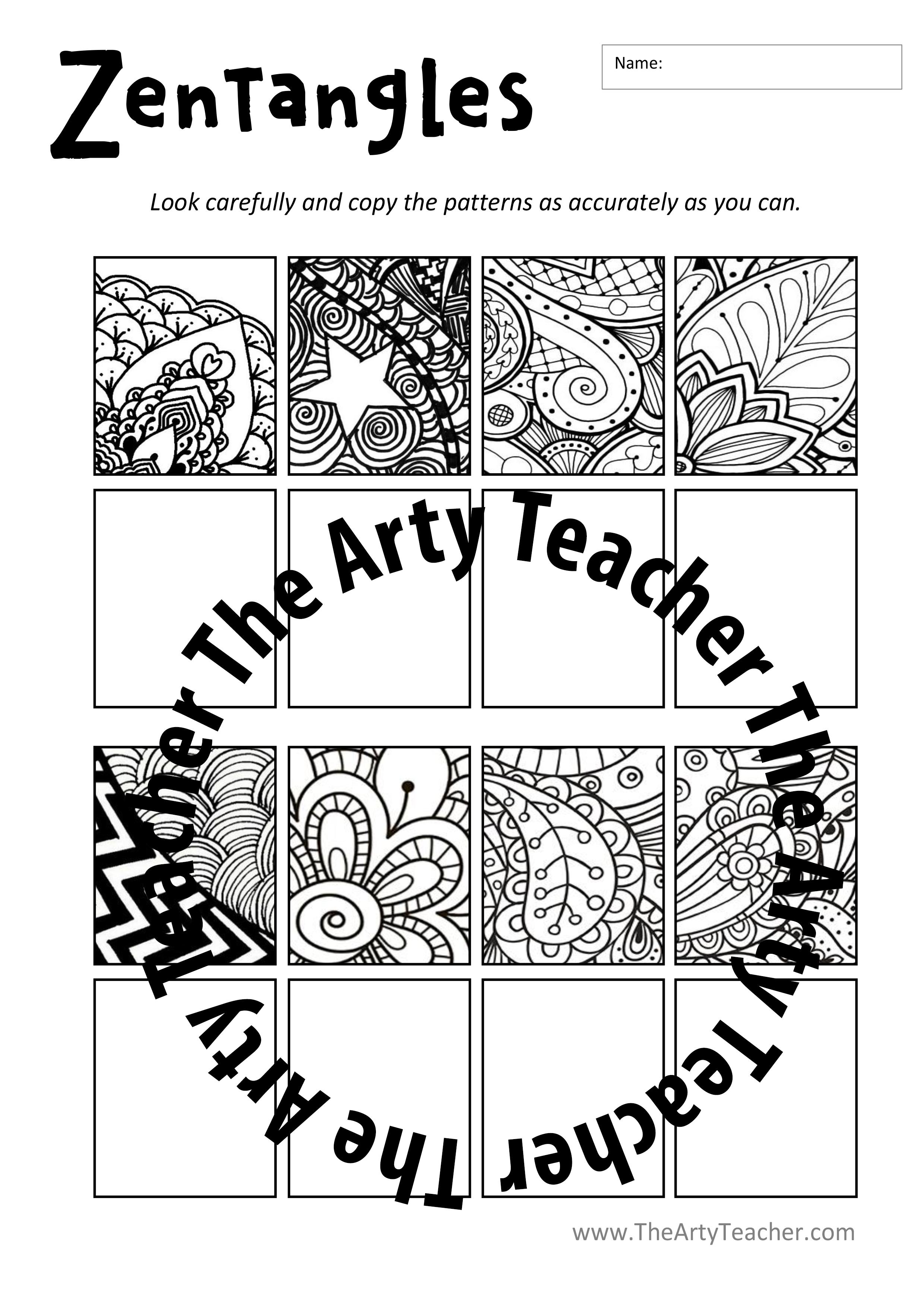 Drawing Patterns Worksheet