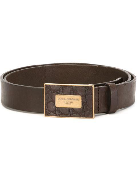 44517a53 DOLCE & GABBANA logo buckle belt. #dolcegabbana #belt | Dolce ...