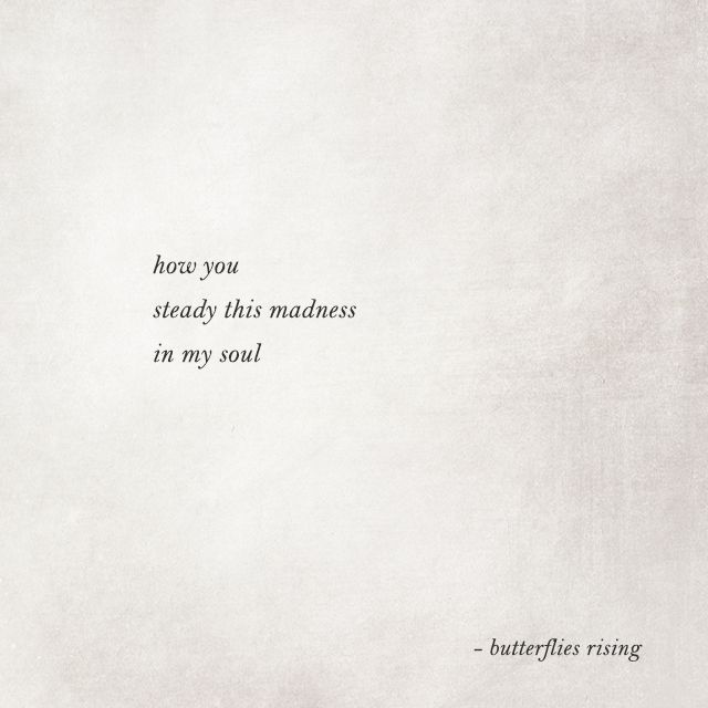 how you steady this madness in my soul – butterflies rising