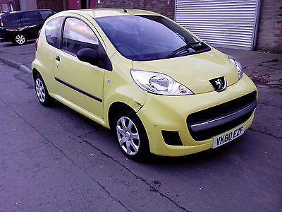 eBay: 2010 PEUGEOT 107 URBAN YELLOW DAMAGED REPAIRABLE SALVAGE CAT