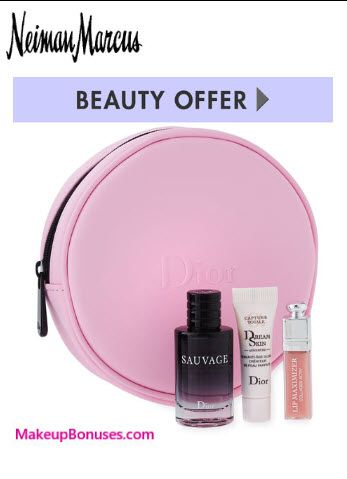 Neiman Marcus Free Bonus Gift with Purchase Offers from Dior Beauty & La Prairie - details at MakeupBonuses.com #la_prairie #dior #neimanmarcus #GWP