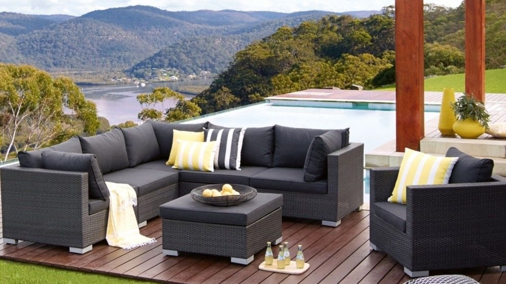 Newport outdoor modular lounge suite outdoor living for Outdoor furniture harvey norman