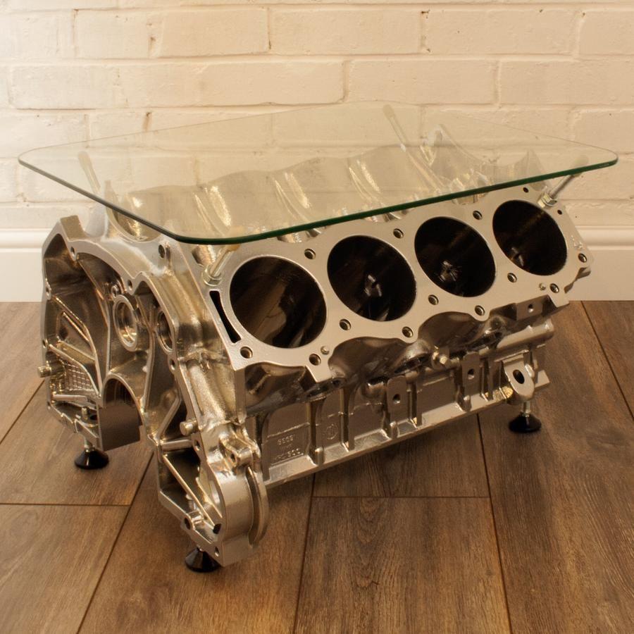 Jeremy The V8 Table Reestore Ltd Engine Coffee Table Car Part Furniture Automotive Decor