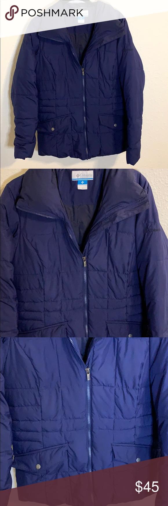 Columbia Puffer Jacket Blue Puffer Jacket Jackets Clothes Design [ 1740 x 580 Pixel ]