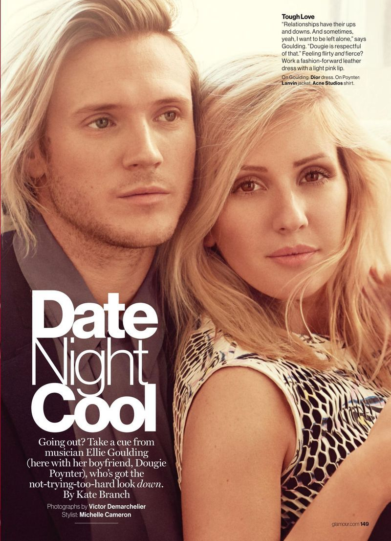"""""""Date Night Cool"""" Ellie Goulding for Glamour US February"""