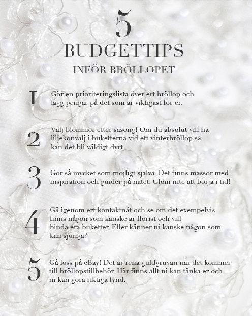330716b3564f 5 Budgettips inför bröllopet! | 12 MÅN - Bröllopsbudget in 2019 ...