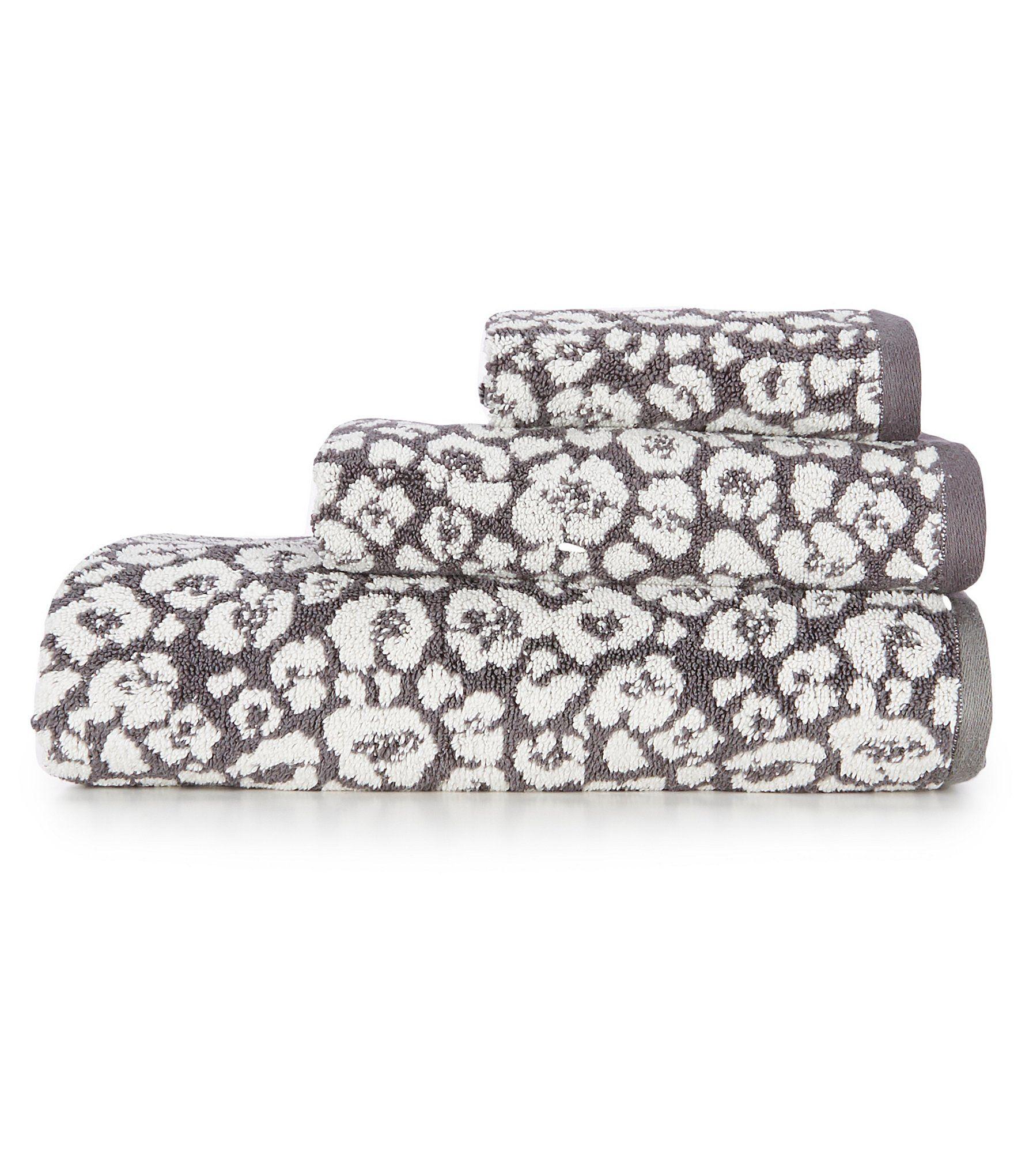 Southern Living Savannah Leopard Bath Towels - Taupe Bath Towel #handtowels