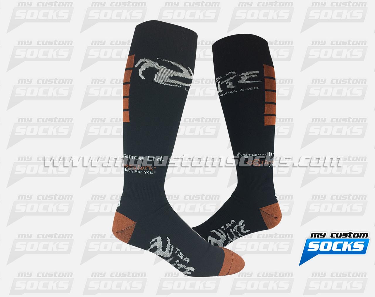Socks Designed By My Custom Socks For Tsa Elite Volleyball Club In Alberta Canada Volleyball Socks Made With Coolmax Fabric Volle Custom Socks Socks Custom