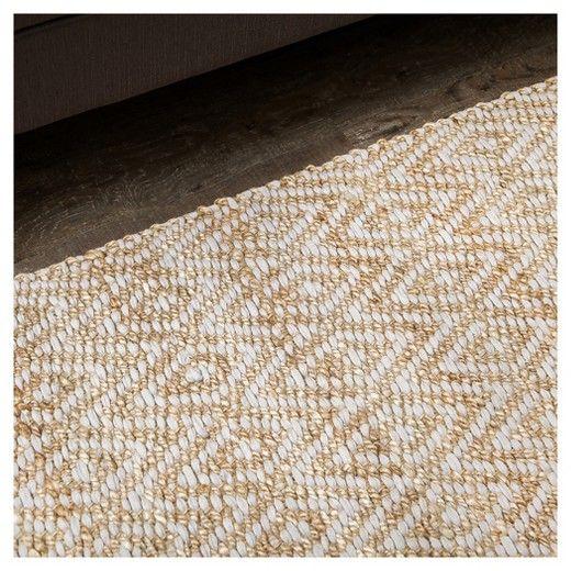 Light Gray Geometric Woven Area Rug 8 X 10 Anji