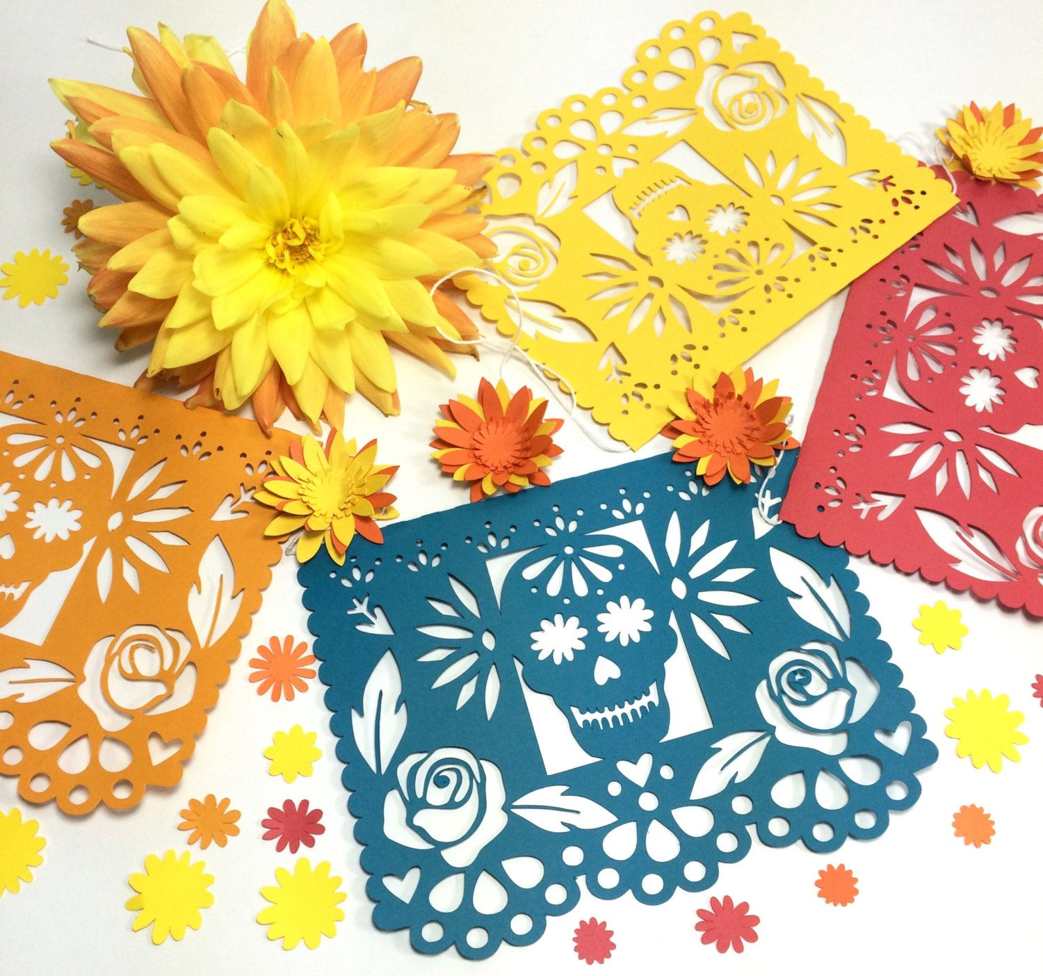 day of the dead decorations mexican dia de los muertos papel picado banner sugar