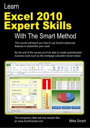 Learn Excel 2010 Expert Skills with The Smart Method Courseware