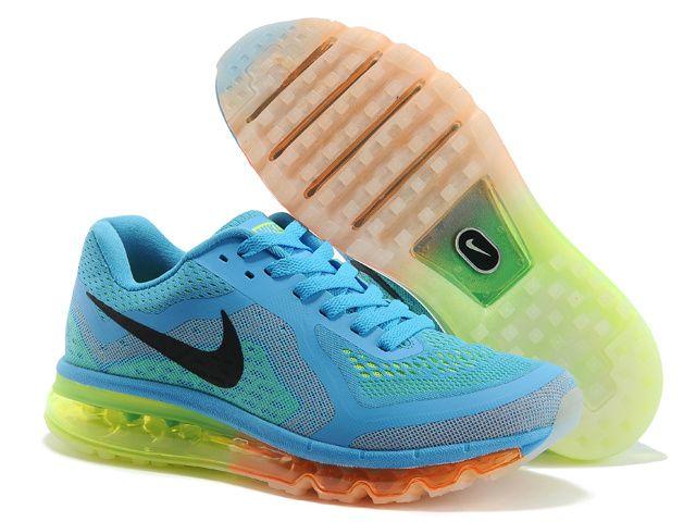 nike air max 2014 running shoes blue green orange price