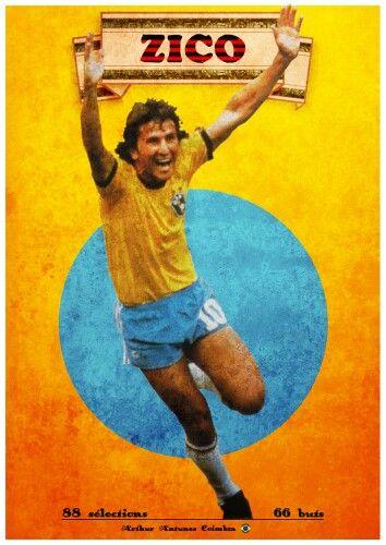 Zico Of Brazil Wallpaper Zico Brazil Wallpaper Football Wallpaper