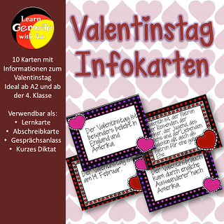 Infokarten zum Thema Valentinstag für den ...